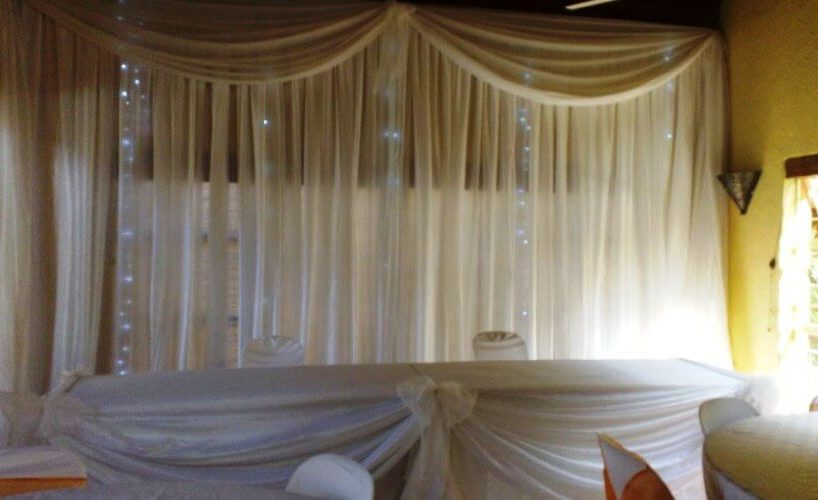 Draping Bridal Table & Fairy Lights