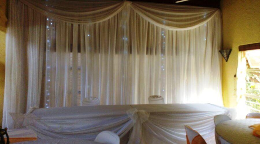 Draping Bridal Table & Fairy Lights