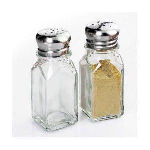 Glass Salt and Pepper Cellars