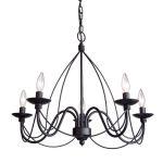 Chandelier Wrought-iron 5-light
