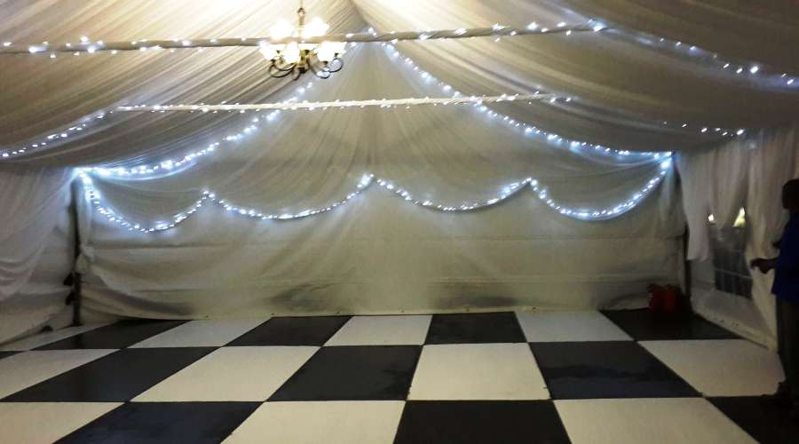 Marquee 9m & Draping & Fairy Lights